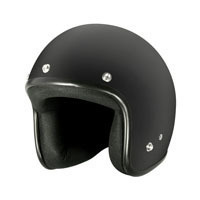 225 Helmet Flat Black W/Peak / Extra Small