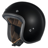 Dririder Vintage Custom FG Black Open Face Road Helmet