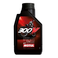 Motul 1L 300V Off Road Factory Line 5W40 4 Stroke Oil