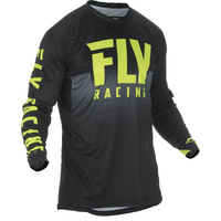 Fly Racing Lite Hydrogen Black/Hi-Vis MX Jersey