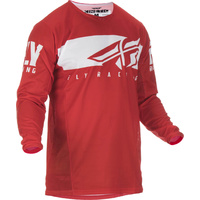 Fly Racing Kinetic Shield Red/White MX Jersey