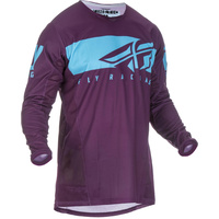 Fly Racing Kinetic Shield Port/Blue MX Jersey