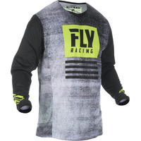 Fly Racing Kinetic Noiz Black/Hi-Vis MX Jersey