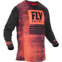 Fly Racing Kinetic Noiz Neon Red MX Jersey