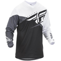 Fly Racing F-16 Black/White MX Jersey