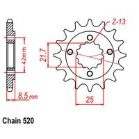 FRONT SPROCKET - STEEL 15T 520P D/D