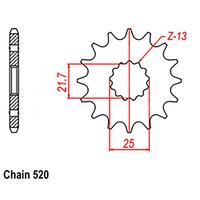 FRONT SPROCKET - STEEL 12T 520P (NOT D/D)