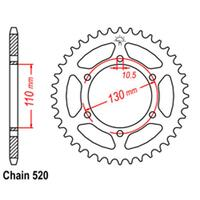 REAR SPROCKET - STEEL 45T 520P