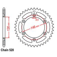 REAR SPROCKET - STEEL 43T 520P