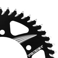 VORTEX ALLOY REAR SPROCKET 525-46T - BLACK