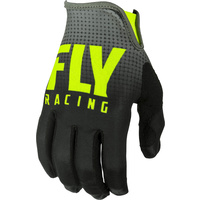 Fly Racing Lite Black/Hi-Vis MX Gloves