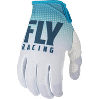 Fly Racing Lite Blue/White MX Gloves