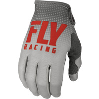 Fly Racing Lite Red/Grey MX Gloves