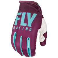 Fly Racing Lite Hydrogen Seafoam MX Gloves