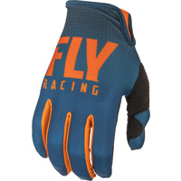 Fly Racing Lite Orange/Navy MX Gloves