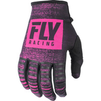Fly Racing Kinetic Noiz Neon Pink MX Gloves