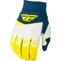 Fly Racing F-16 Yellow/White MX Gloves