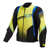 Macna Charger Jacket, Black/ Yellow/ Blue