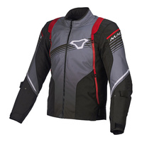 Macna Charger Jacket, Black/ Grey/ Red