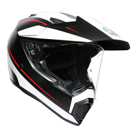 AGV AX9 - PACIFIC ROAD MULTI - MATT BLACK/WHITE/RED X