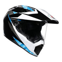 AGV AX9 - NORTH BLACK/WHITE/CYAN