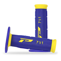 Progrip Blue/Yellow Dual Density 791 Half Waffle Grip