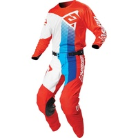 Answer 2021 Motocross Jersey Pant Gear Set Pace Elite White/Red/Hyper Blue
