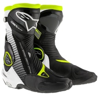 Alpinestars SMX Plus Black/White/Fluro Yellow Performance Riding Road Boots