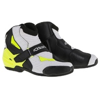 Alpinestars SMX 1R Vented White/Black/Yellow Performance Riding Road Boots