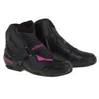Alpinestars Stella SMX 1R Drystar Black/Fuchsia Ladies Performance Riding Road Boots