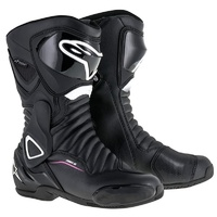 Alpinestars Stella SMX 6 V2 Drystar Black/White/Fuchsia Ladies All Weather Performance Riding Road Boots