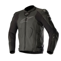 Alpinestars Missle Black Leather Racing Road Jacket