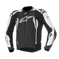Alpinestars GP Tech V2 Black/White Leather Racing Road Jacket