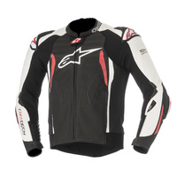 Alpinestars GP Tech V2 Black/White/Red Leather Racing Road Jacket