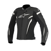 Alpinestars Stella GP Plus R V2 Black/White Ladies Leather Racing Road Jacket