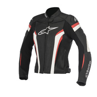 Alpinestars Stella GP Plus R V2 Black/White/Red Ladies Leather Racing Road Jacket
