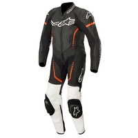 Alpinestars GP Plus Youth Black/White/Fluro Red Leather Racing Suit