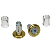 Barkbusters Aluminium Handlebar End Plugs Bar Ends - Gold - Fits 14mm & 18mm ID