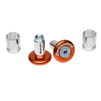 Barkbusters Aluminium Handlebar End Plugs Bar Ends Fits 14mm & 18mm ID - Orange