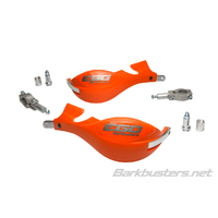 Barkbusters Ego Mini Orange Handguards with Two Point Straight Mount