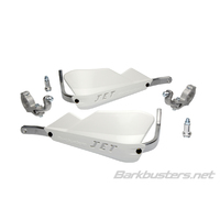Barkbusters Jet White Handguards with Tapered Two Point Mount