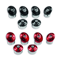 Ducati Genuine Black Billet Aluminium Frame Plugs