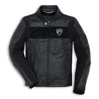 Ducati Genuine Company C2 Perforated Black Leather Jacket