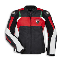 Ducati Genuine Corse C3 Standard White/Red Leather Jacket