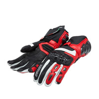 Ducati Genuine Performance C2 Red Leather Gloves