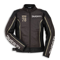 Ducati Genuine IOM C1 Perforated Black/Brown Leather Jacket