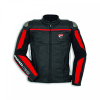 Ducati Genuine Corse C4 Black/White Leather Jacket