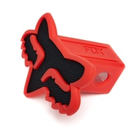 Fox Trailer Hitch Cover / Blkred