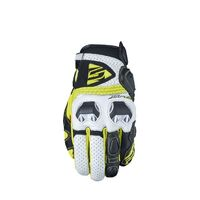 Five SF-2 White/Fluro Road Gloves