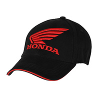 Honda Wing Fitted Black Cap